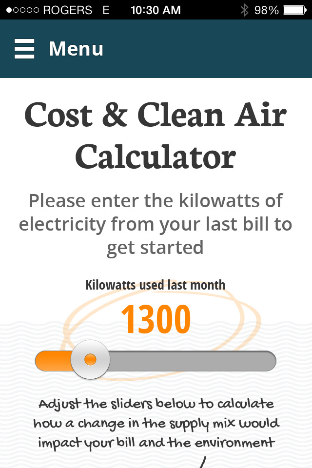 Cost and Clean Air Calculator icon