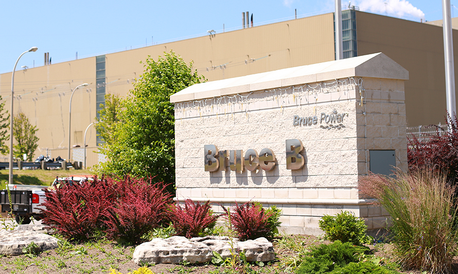 Entrance sign at Bruce B