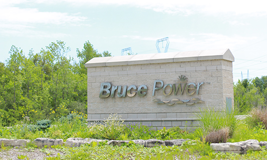 Sign at Bruce Power entrance