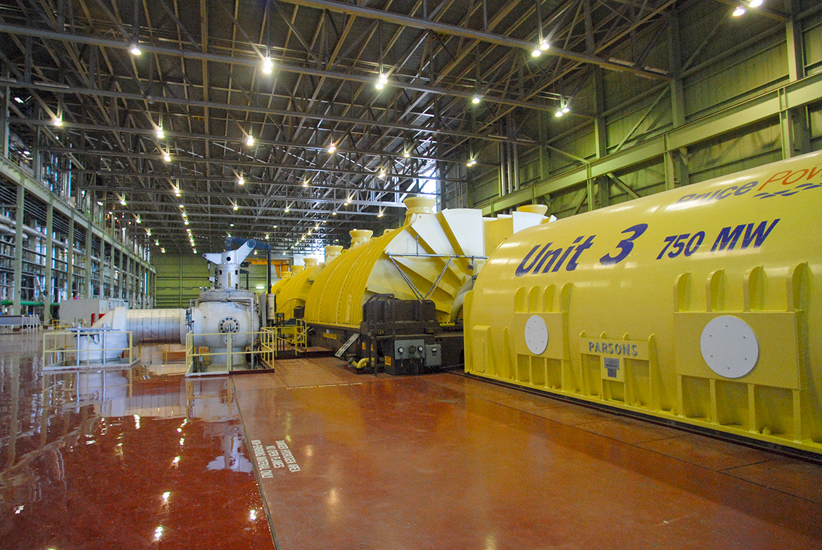 Bruce Power turbine interior