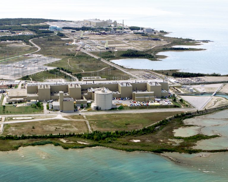 aerial view of the Bruce Power site