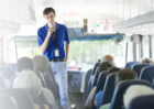 Guide gives Bus Tour