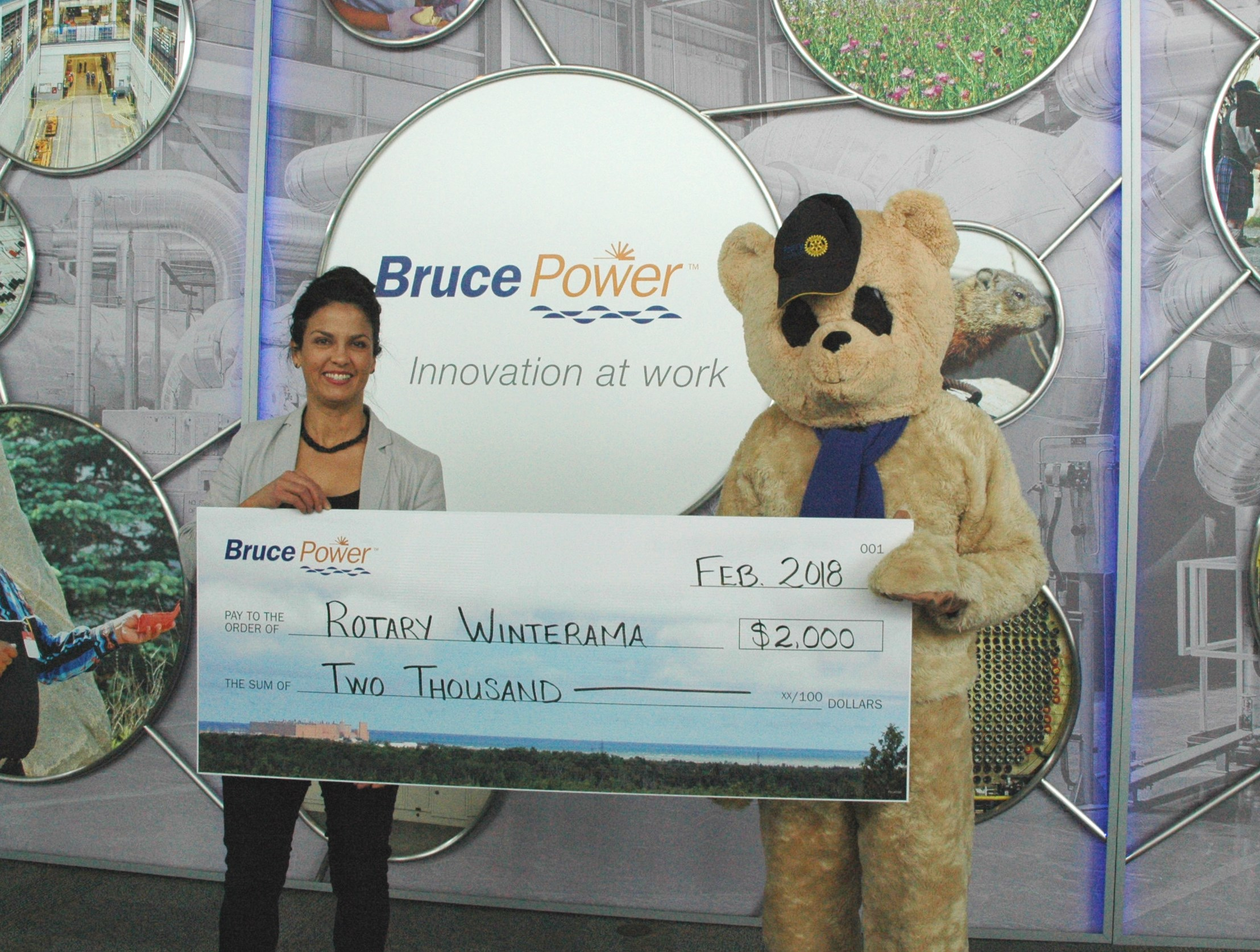 Rotary Winterama donation