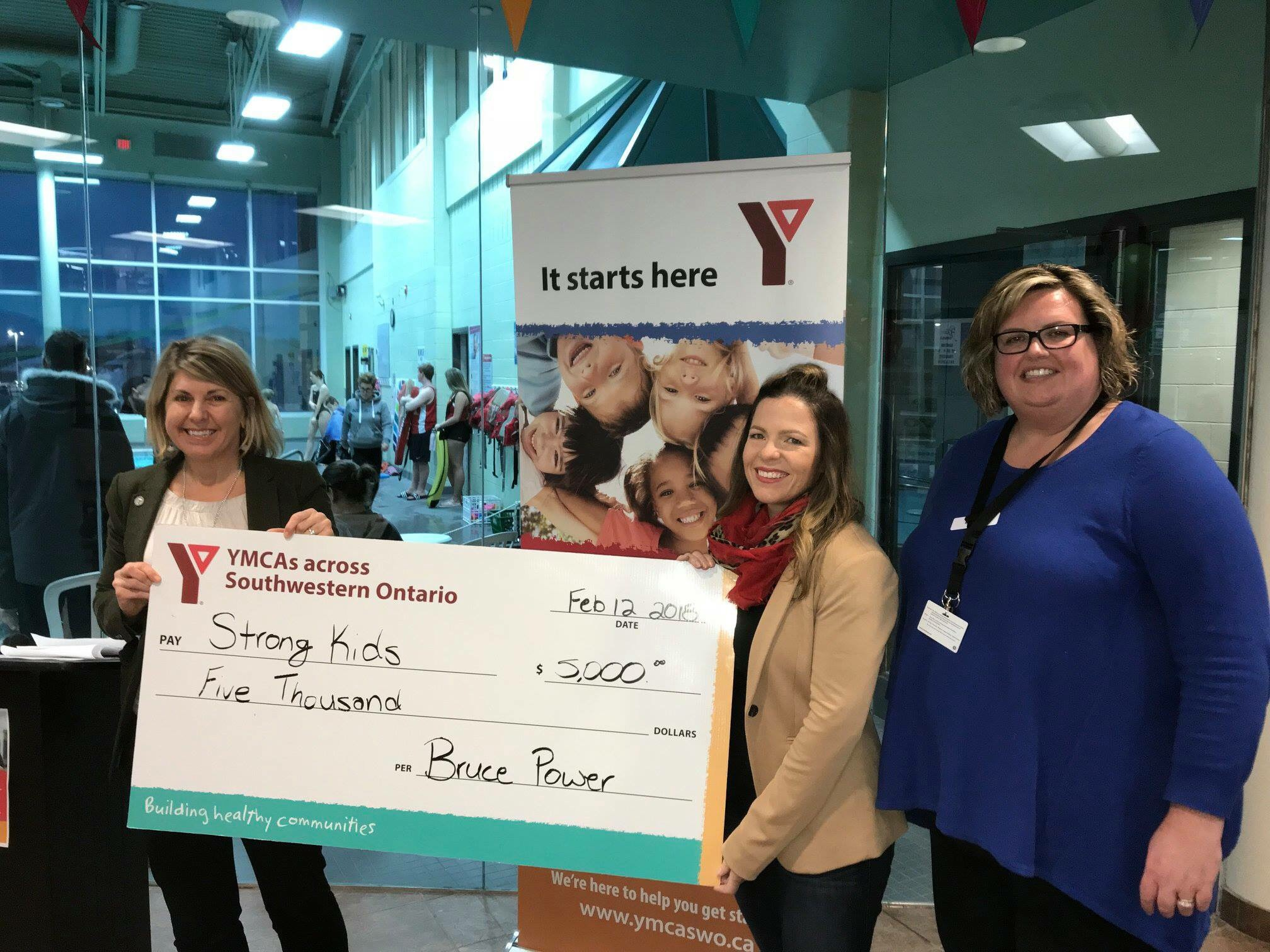 Donation to YMCA Goderich