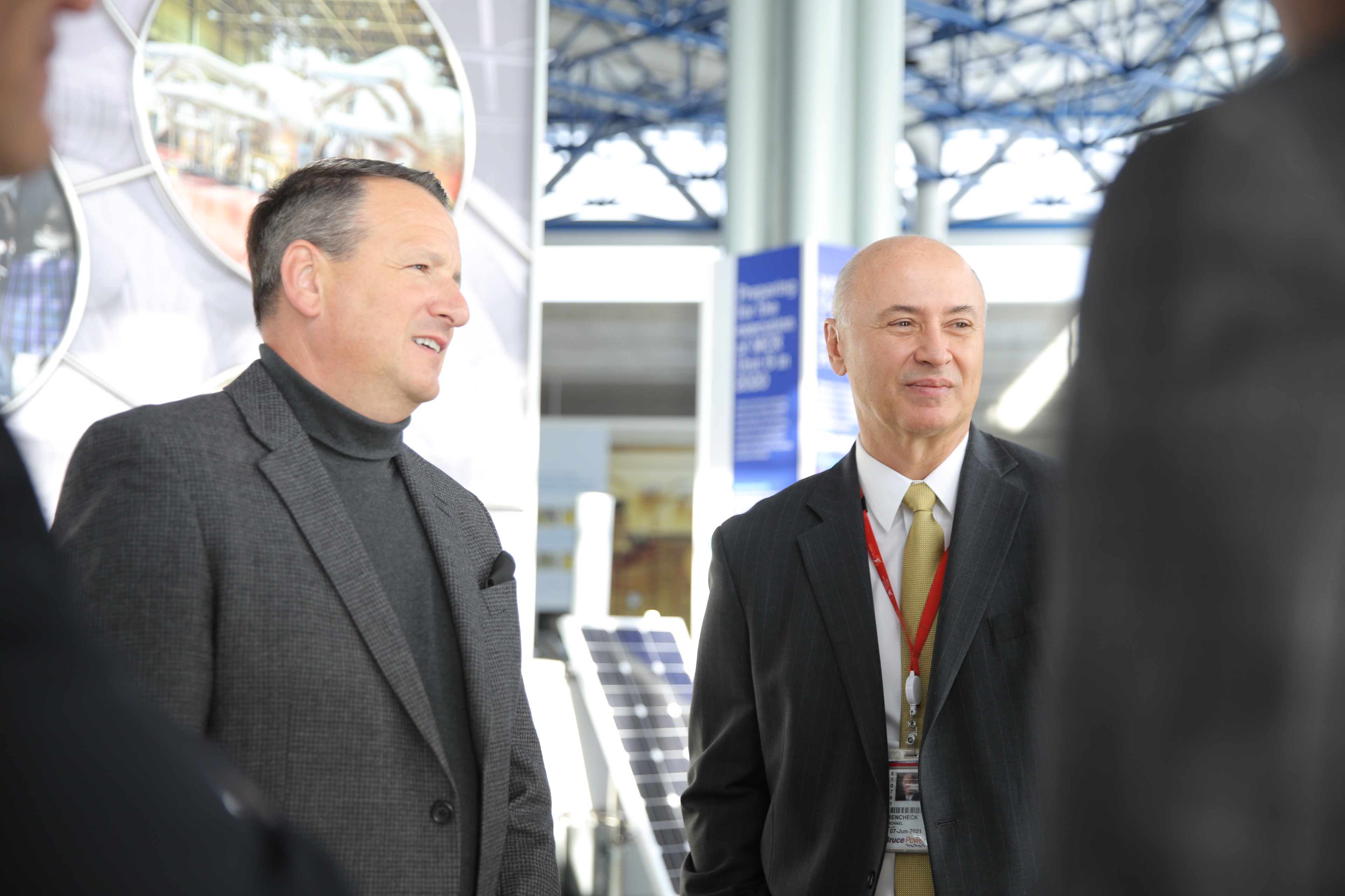 Minister of Energy Greg Rickford and Mike Rencheck