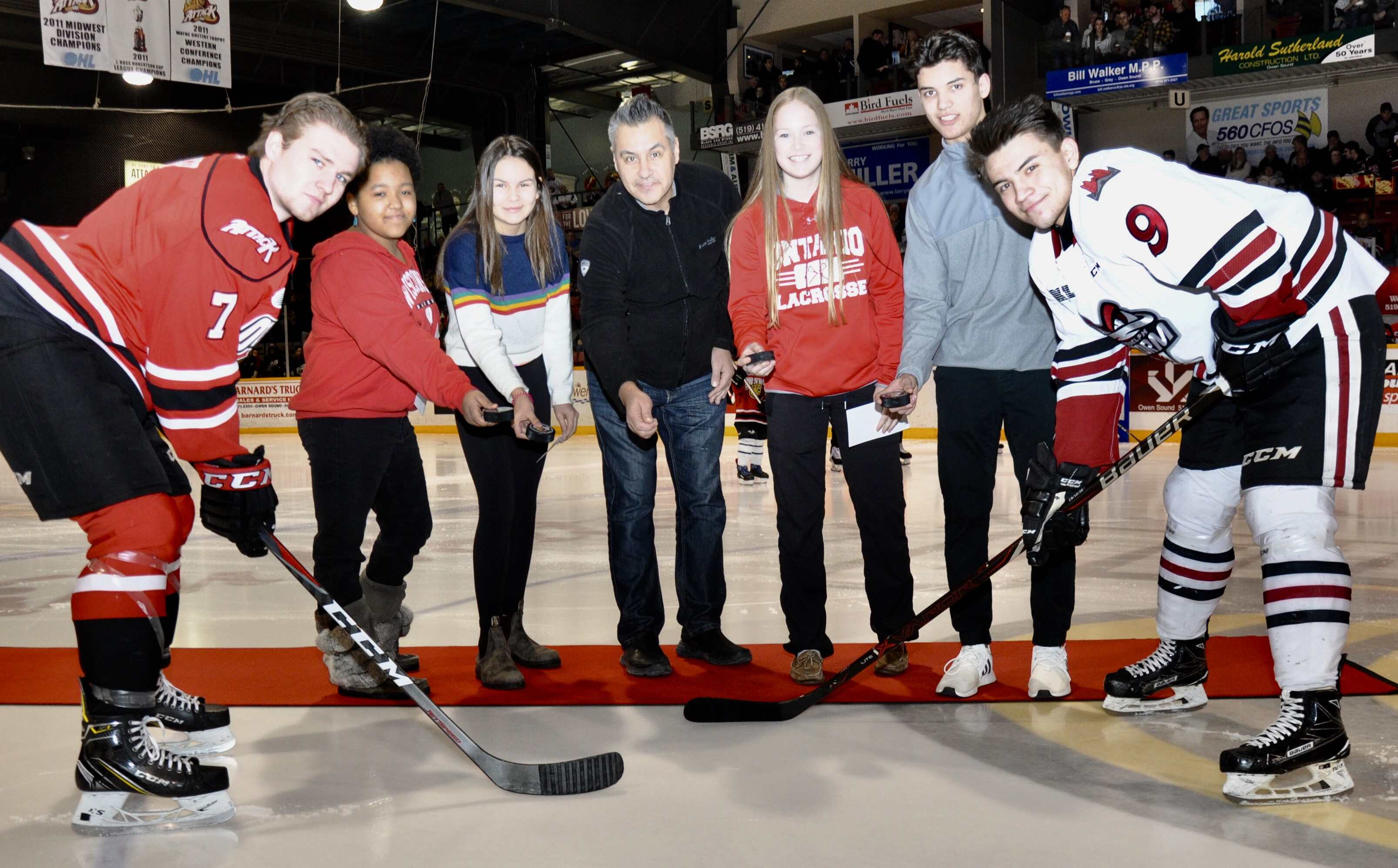 Indigenous Day at Owen Sound Attack game