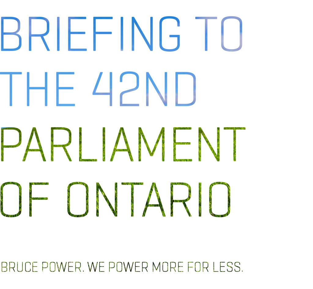Briefing to the 42nd Parliament of Ontario