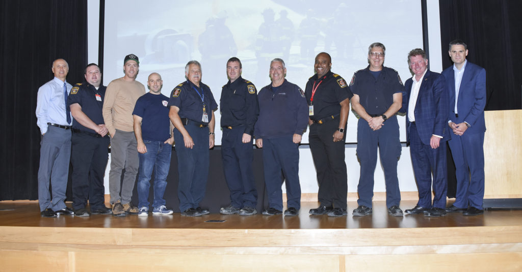 Firefighters honoured at luncheon