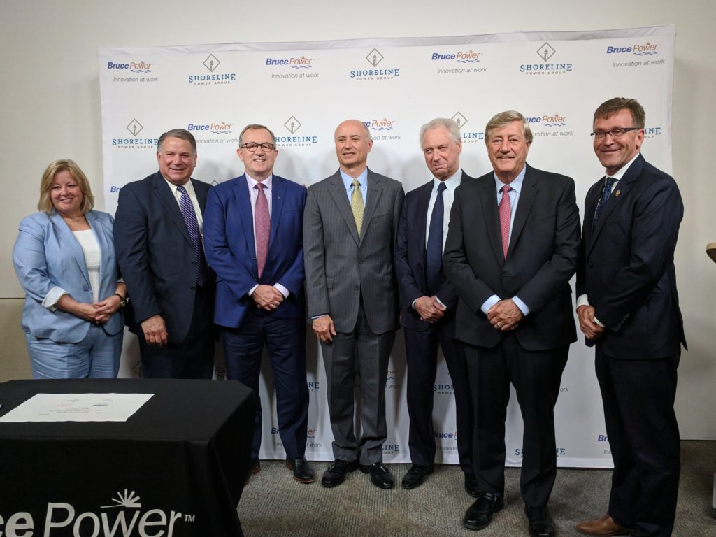 Shoreline Power Group and dignitaries