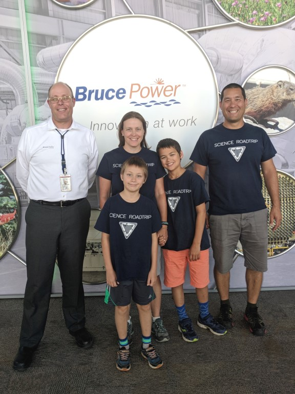 Family enjoys Visitors' Centre