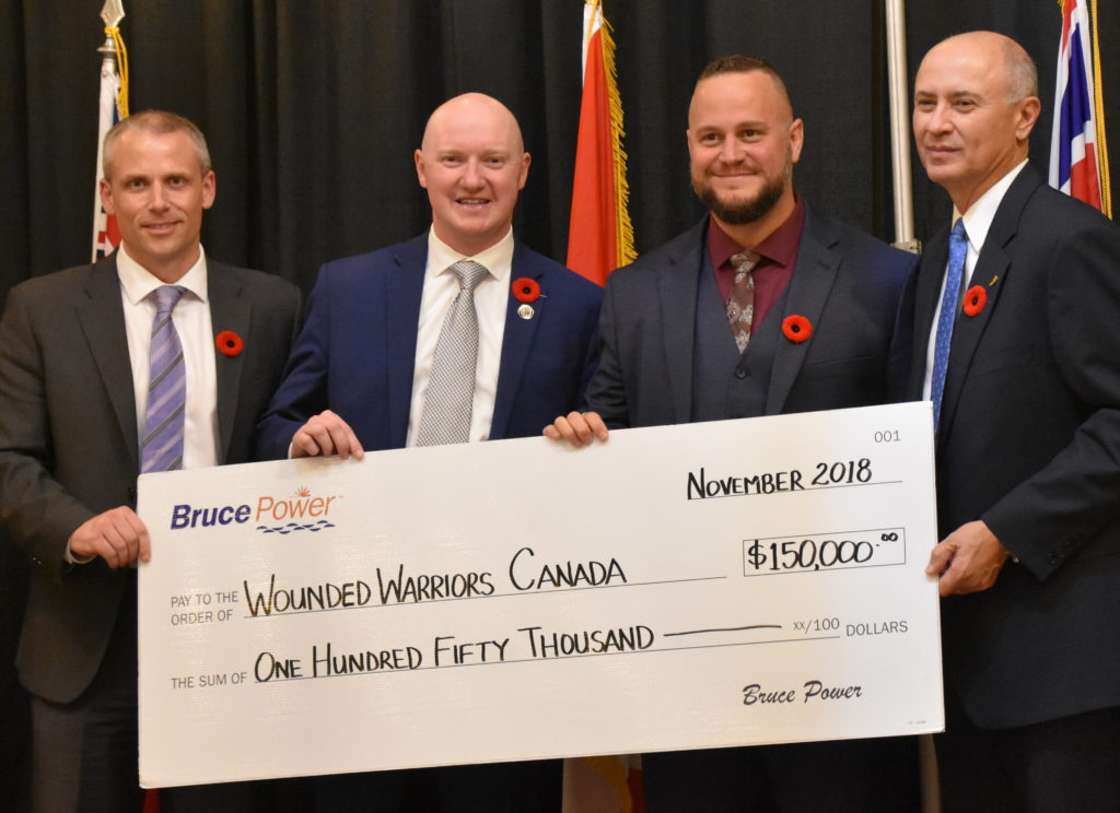 Wounded Warriors accepts $150,000 cheque