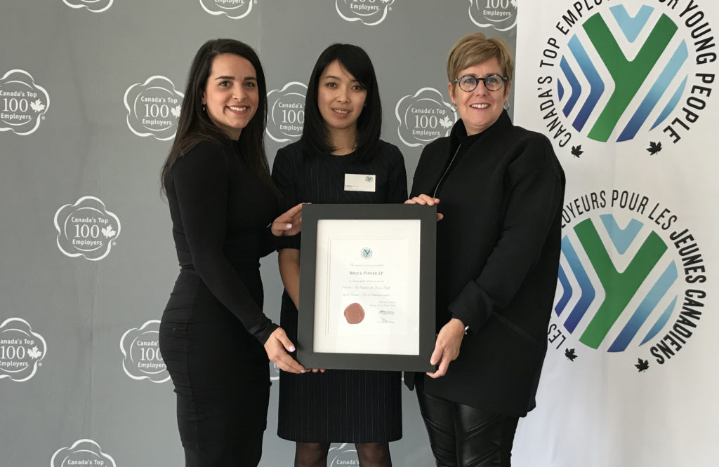 Employees receive Canada's Top Employers for Young People award
