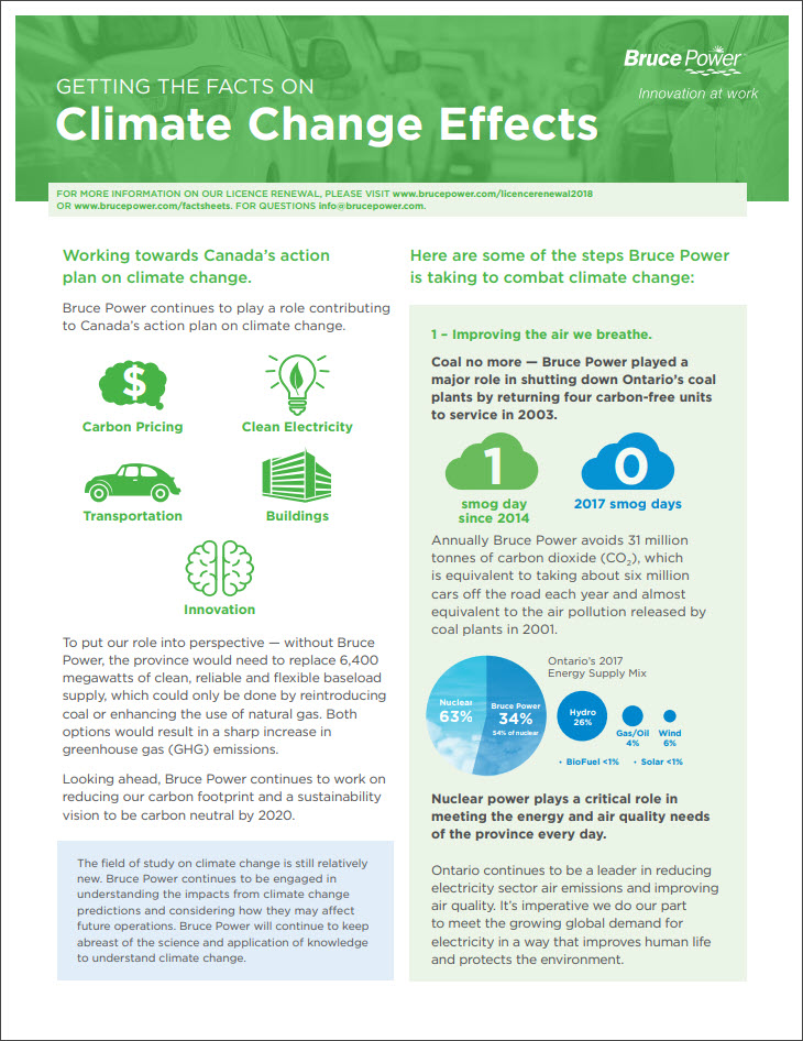 Facts on climate change effects