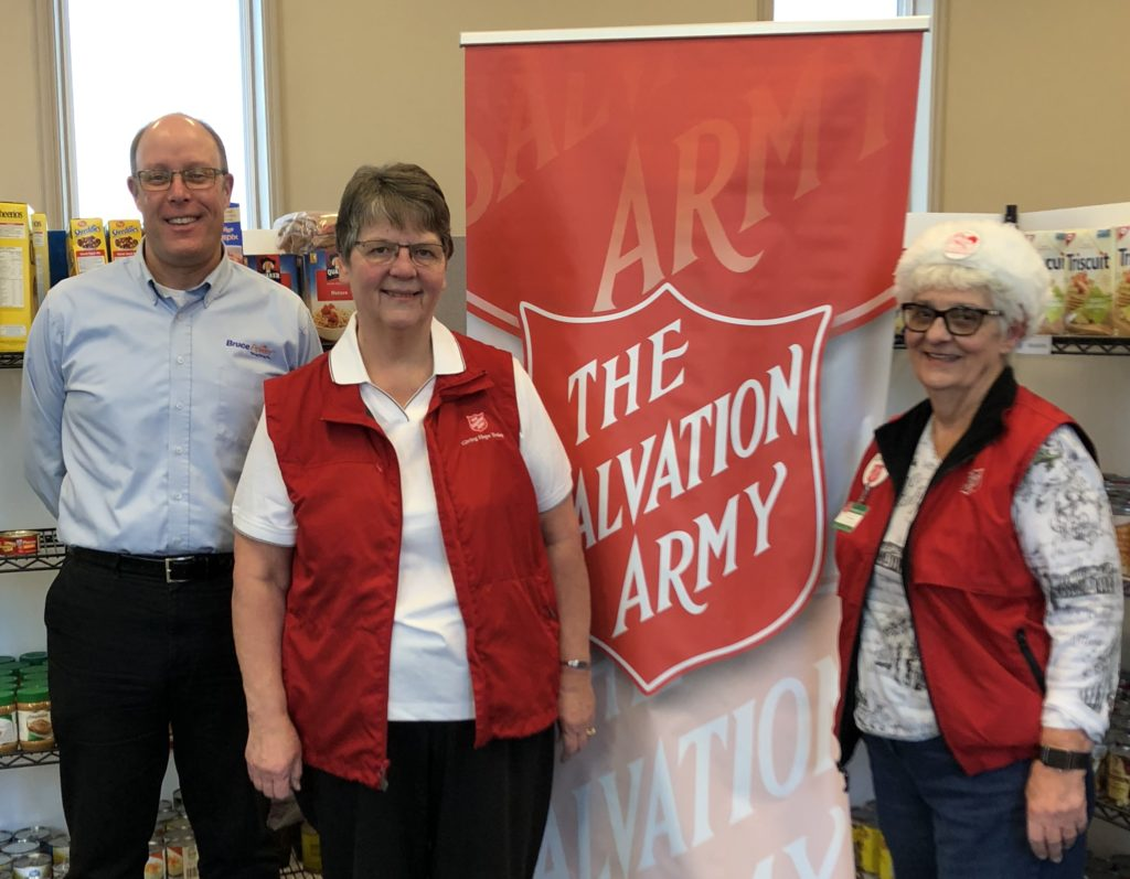 Salvation Army accepts donation