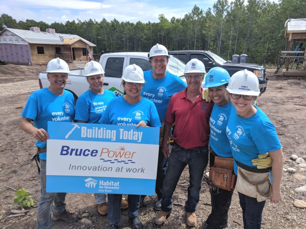 Employees assist Habitat for Humanity build in Nawash Unceded First Nation