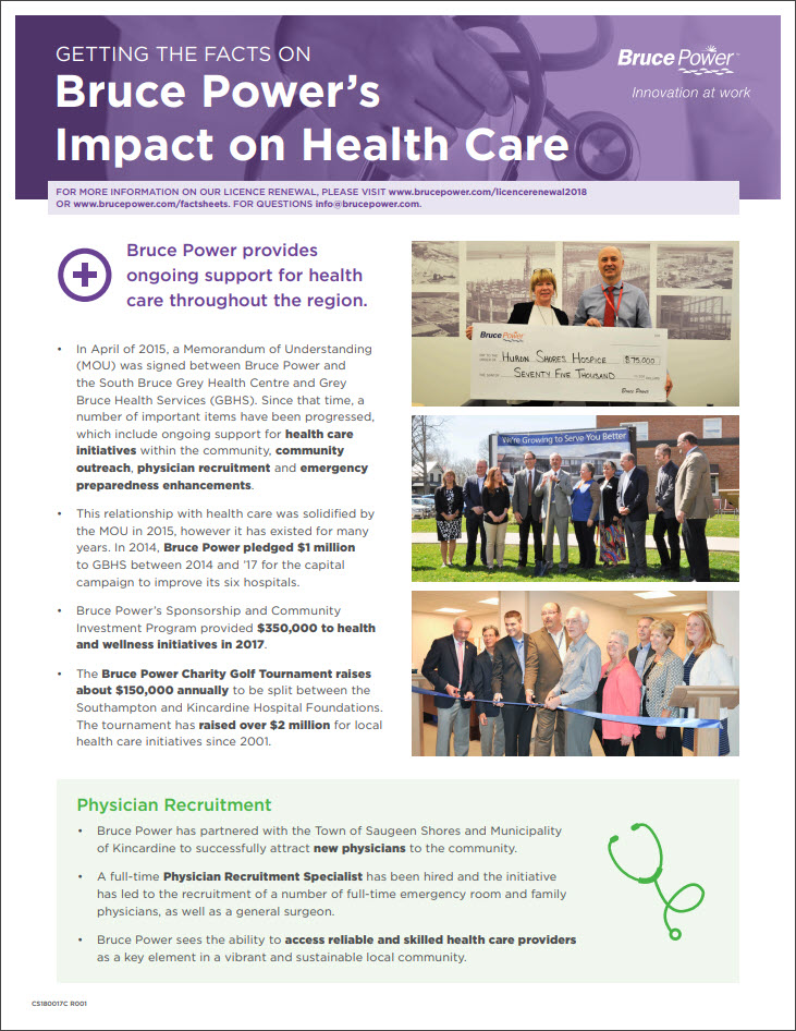 Facts on health care impact