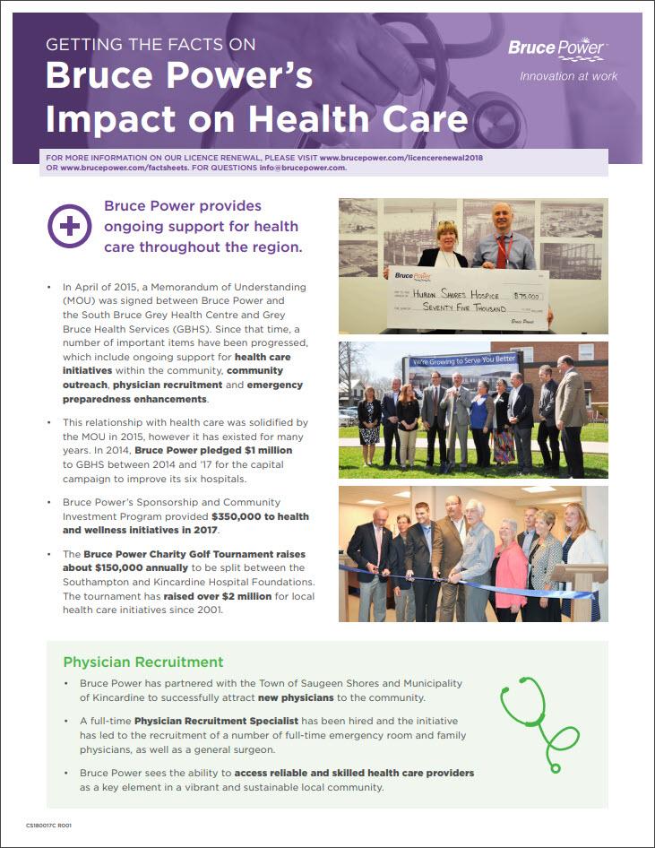 Bruce Power's Impact on Health Care thumbnail