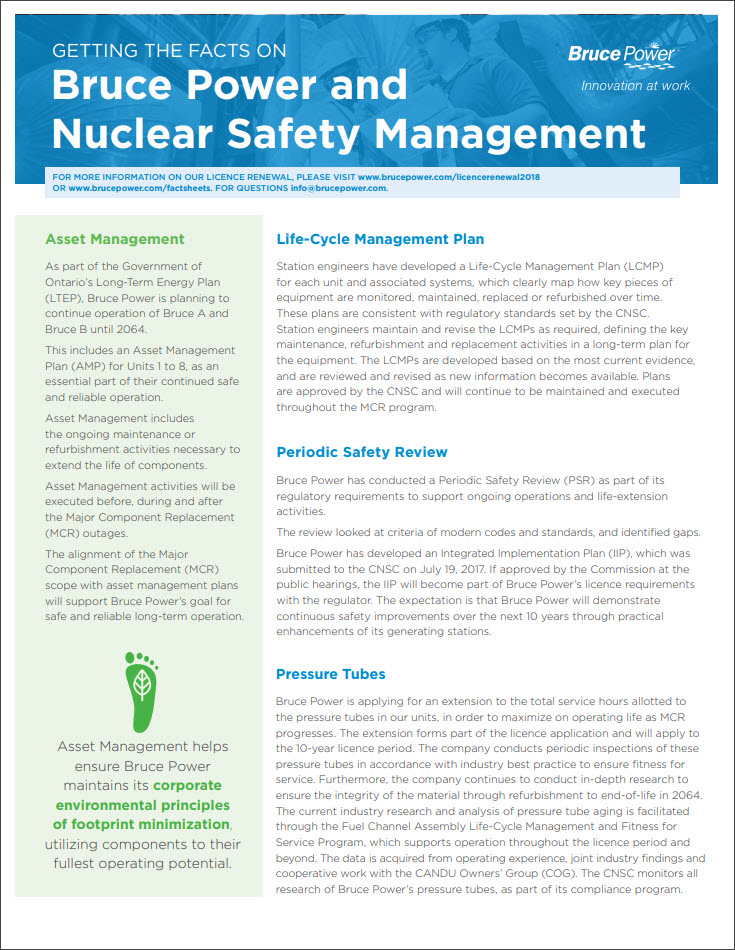 Facts on nuclear safety management