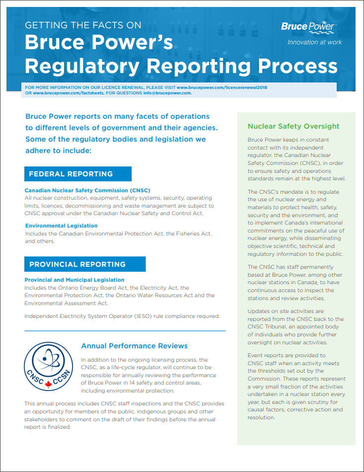 Facts on regulatory reporting process