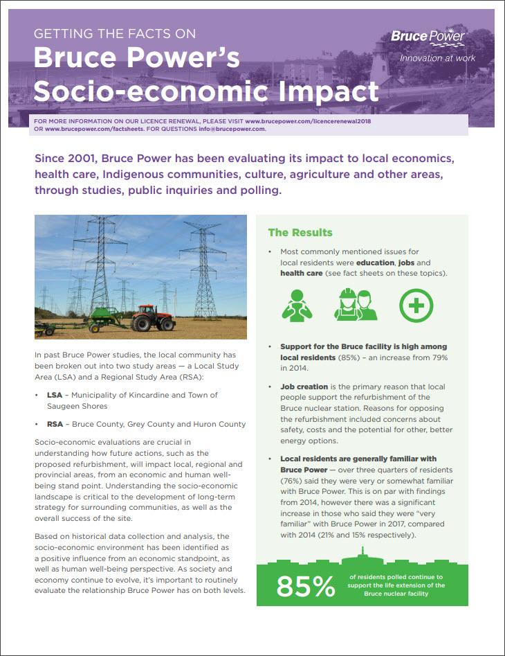 Facts on socio-economic impact