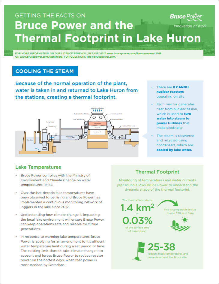 Facts on thermal footprint in lake huron