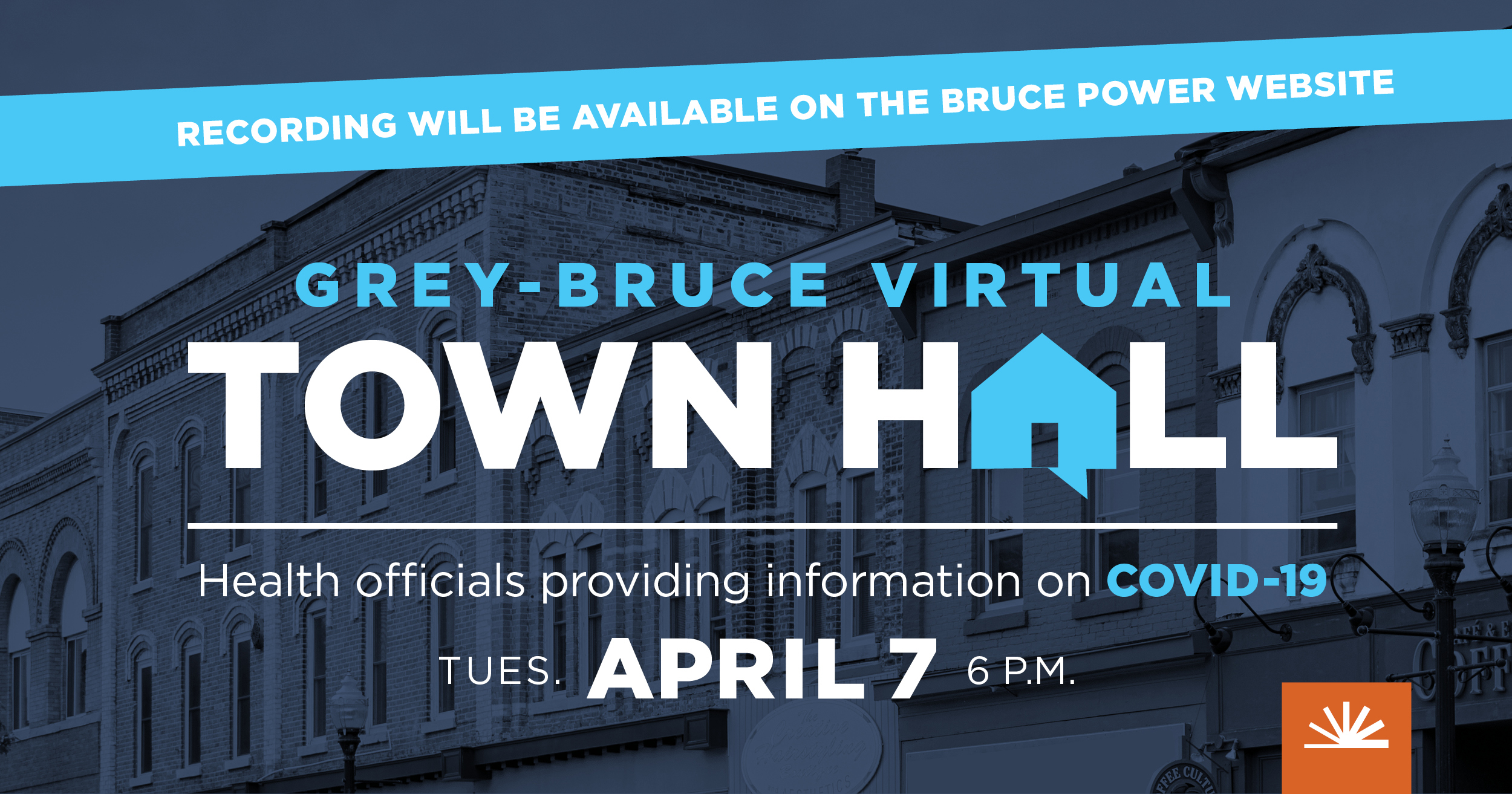 April 7, 2020, virtual town hall advertisement
