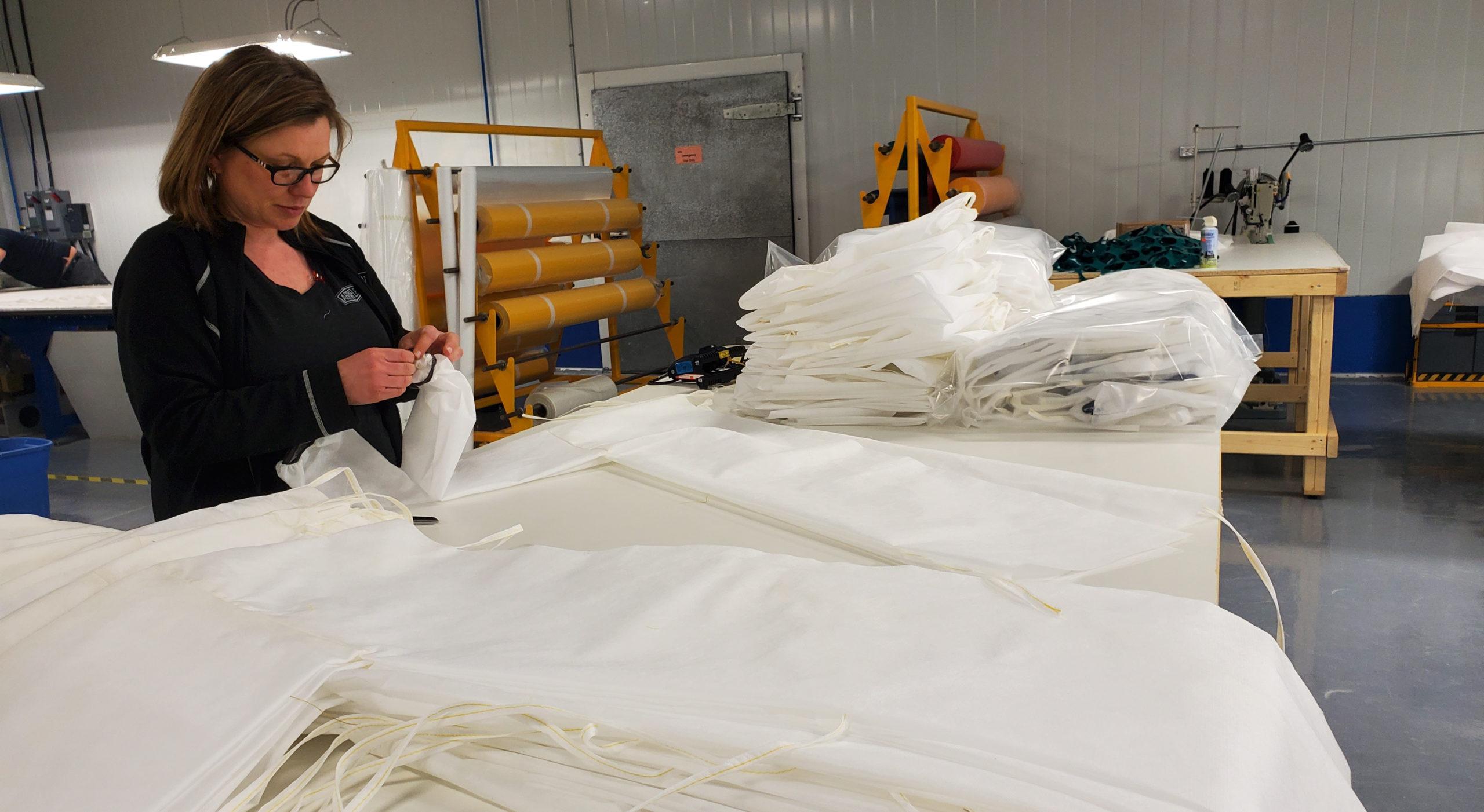 Abraflex employee helps produce PPE in COVID fight