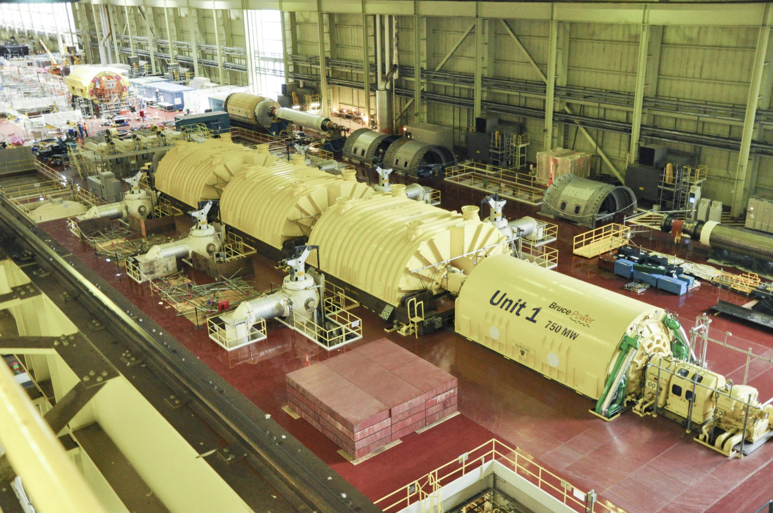Unit 1 turbine hall