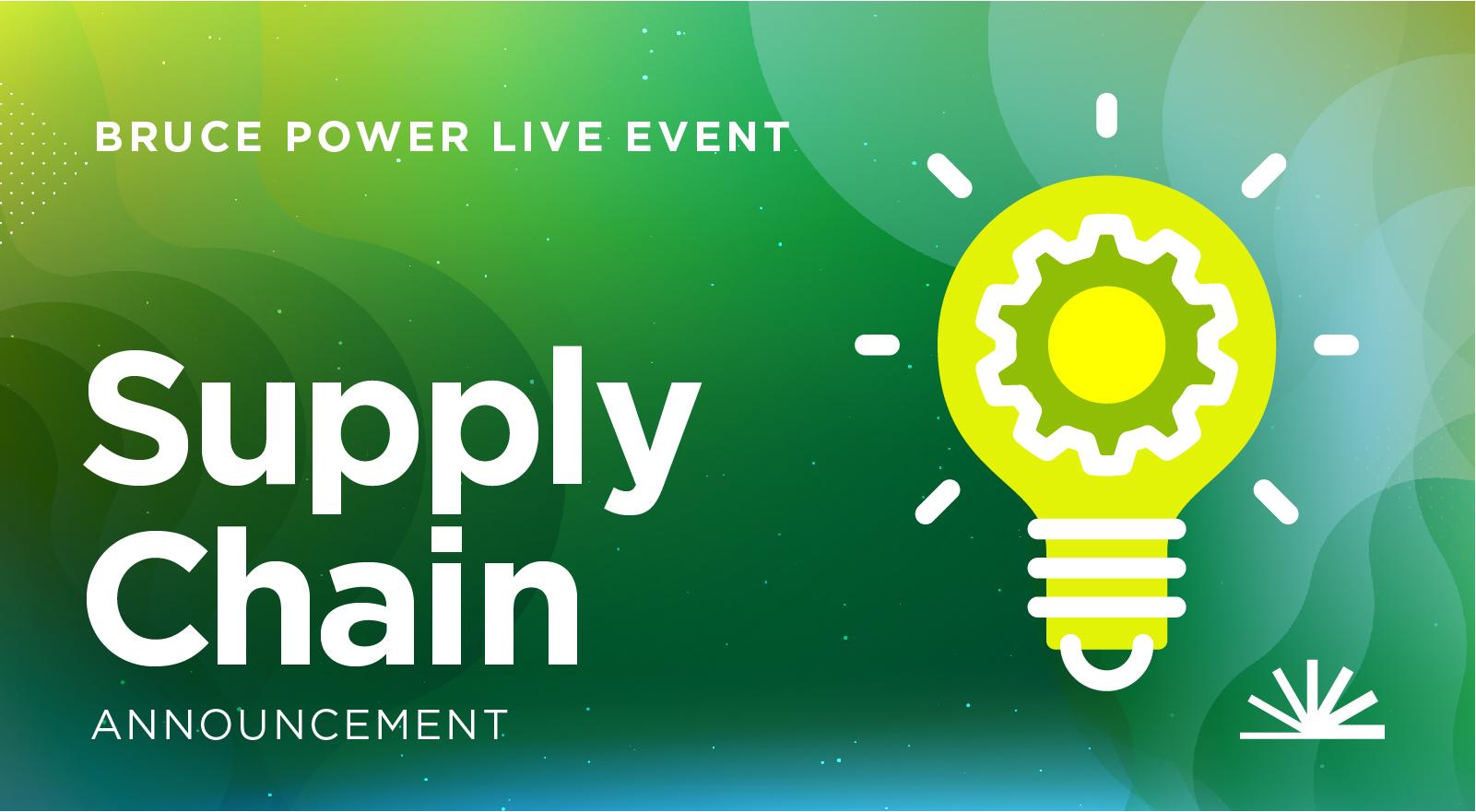 Supply Chain announcement