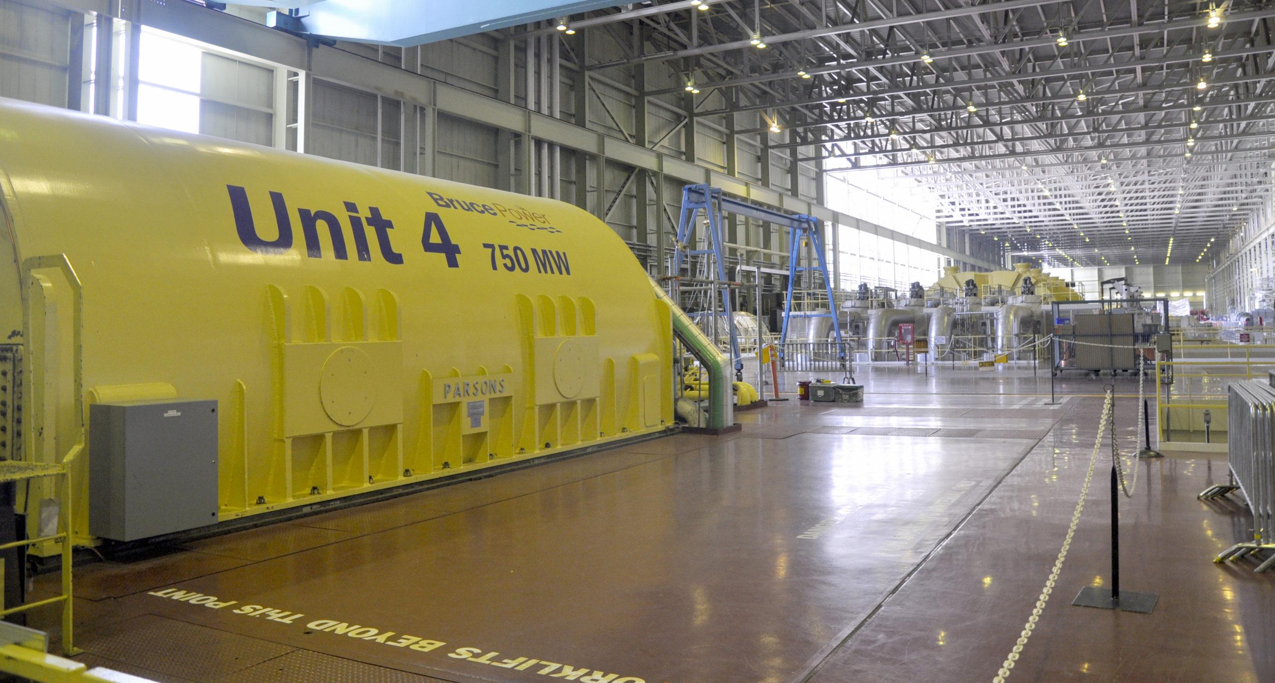Unit 4 turbine hall