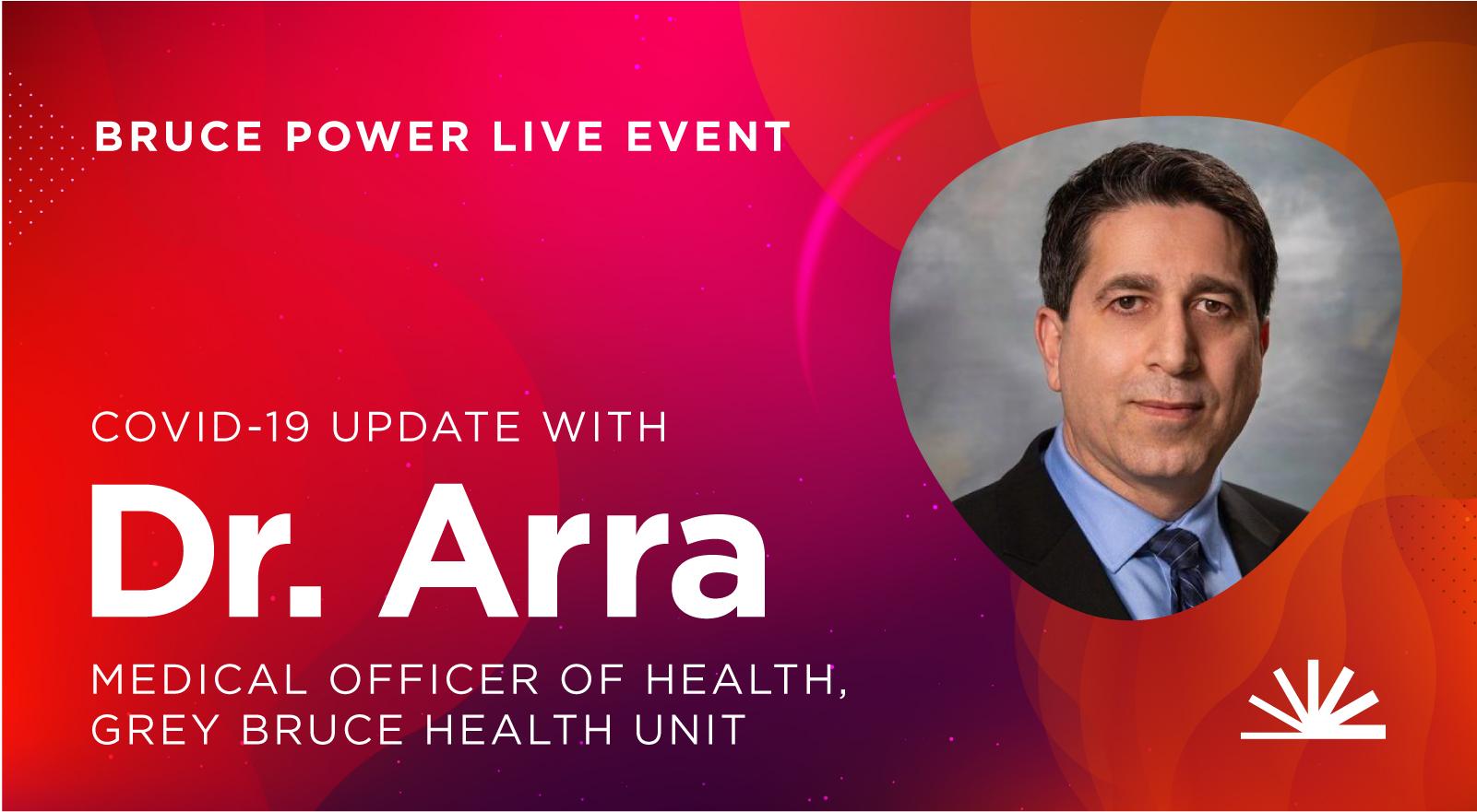 Live event Dr. Arra advertisement