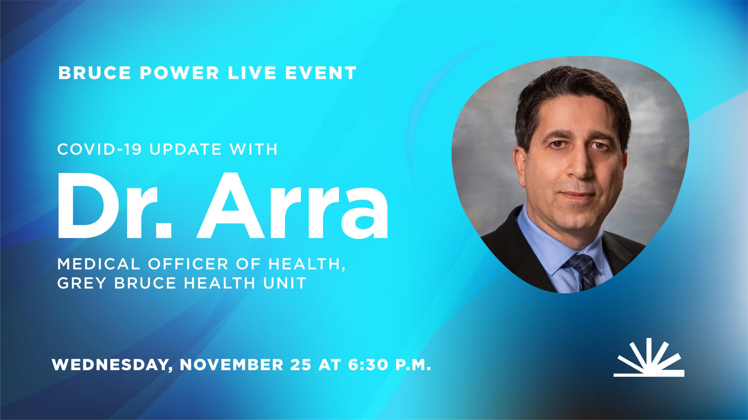 Live event Dr. Ian Arra November 26, 2020