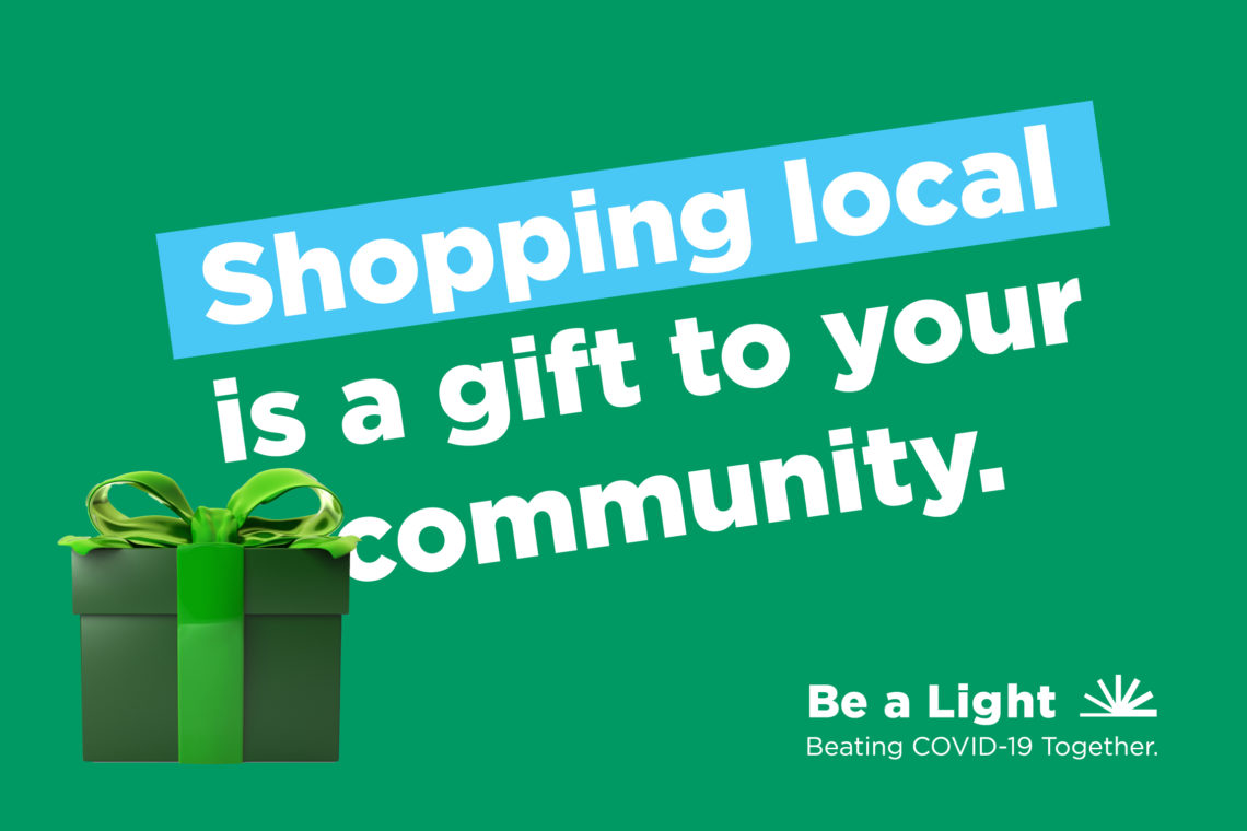 Shop local advertisement for Be a Light campaign