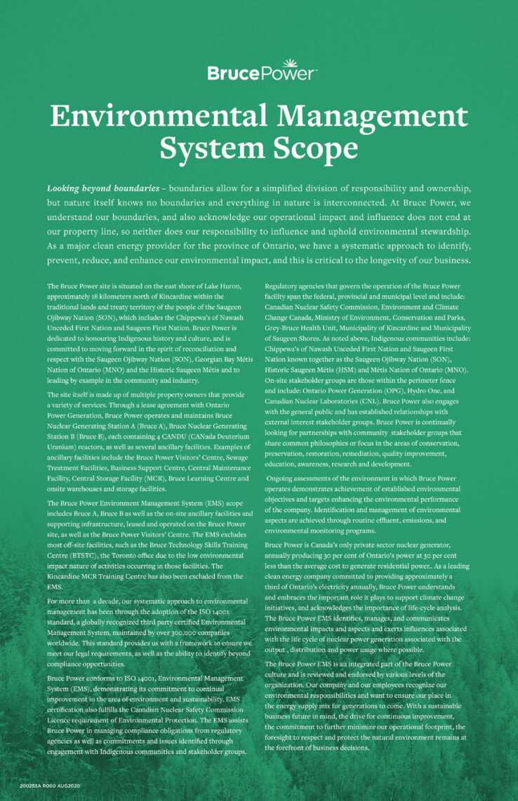 Environmental Management System Scope policy