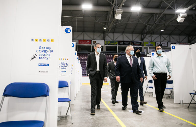 Premier Ford at vaccine hub